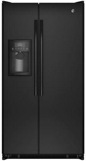 GE® 25.4 Cu. Ft. Side-By-Side Refrigerator-Black-GSE25GGHBB