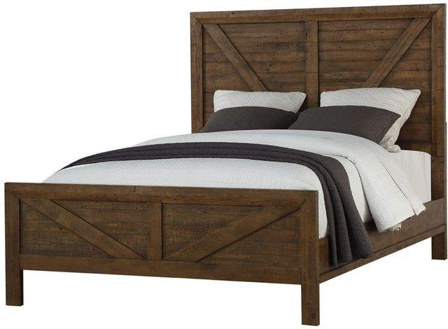 Emerald Home® Pine Valley Brown Panel Queen Bed-B744-10-K