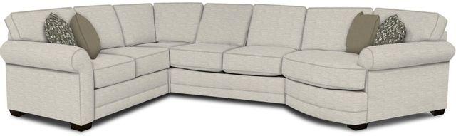 England Furniture Co. Brantley 4 Piece Culpepper Snow/Alvarado Mineral/Sierra Clayscape Sectional-5630-28-22-43-95+8613+8676+8601