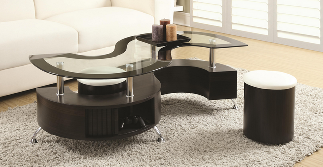 Coaster® Coffee Table and Stools-720218