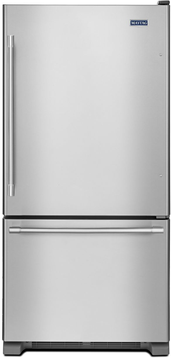 Maytag® 22.07 Cu. Ft. Fingerprint Resistant Stainless Steel Bottom Freezer Refrigerator-MBF2258FEZ