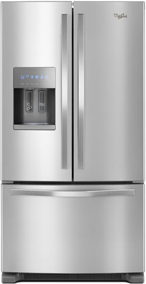 Whirlpool® 25 Cu. Ft. French Door Refrigerator-Fingerprint Resistant Stainless Steel-WRF555SDFZ