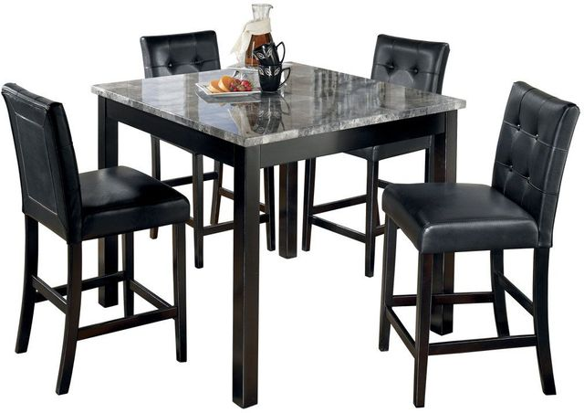 Signature Design by Ashley® Maysville 5 Piece Black Counter Table Set-D154-223
