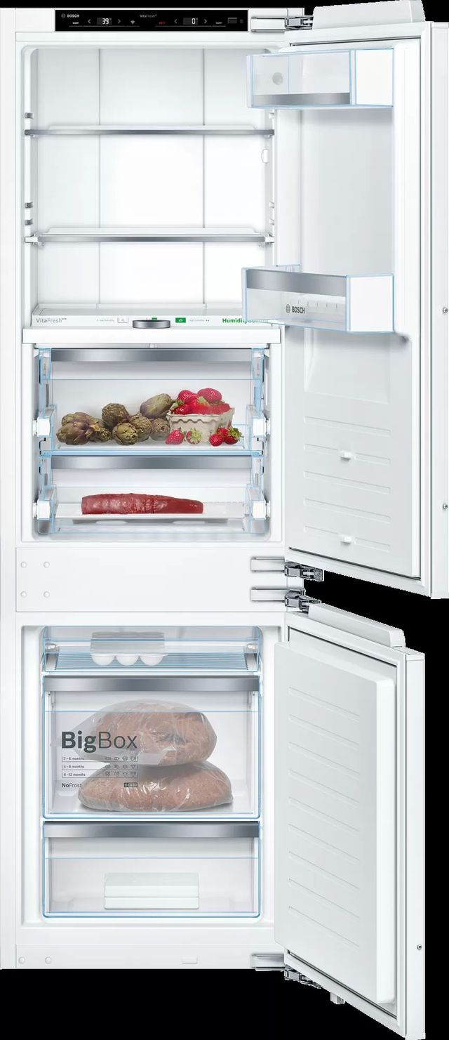 Bosch 800 Series 8.3 Cu. Ft. Custom Panel Built In Bottom Freezer Refrigerator-B09IB91NSP