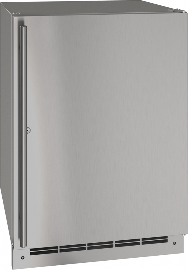 """U-Line® 24"""" Stainless Solid Outdoor Refrigerator-UORE124-SS31A"""