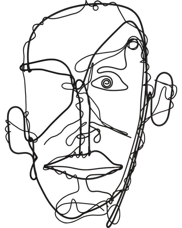 Art mural Caricature, noir mat, Renwil®-W6557