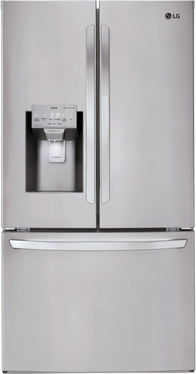 LG 22.1 Cu. Ft. PrintProof™ Stainless Steel Counter Depth French Door Refrigerator-LFXC22526S