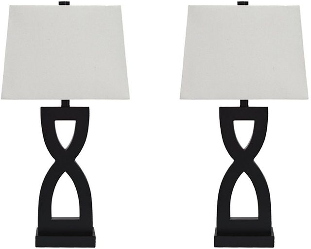 Signature Design by Ashley® Amasai Set of 2 Black Table Lamps-L243144