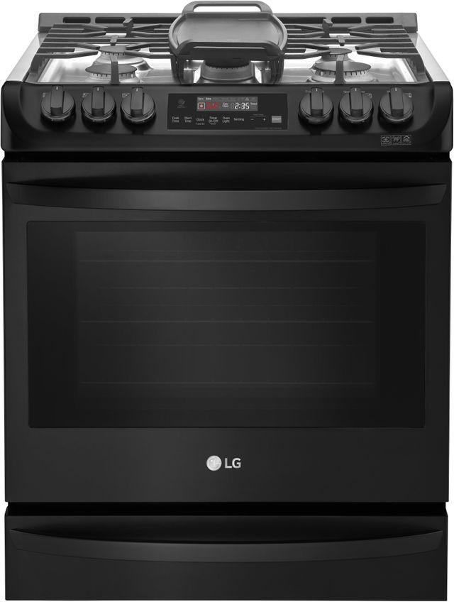 Cuisinière au gaz encastrée LG® de 6,3 pi³ de 30 po - Acier inoxydable noir mat-LSG4515BM