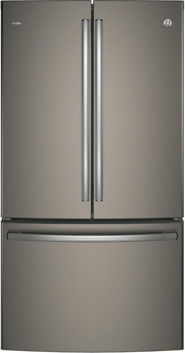 GE Profile™ 23.09 Cu. Ft. Slate Counter Depth French Door Refrigerator-PWE23KMKES