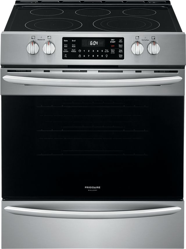 """Frigidaire Gallery® 30"""" Stainless Steel Free Standing Electric Range with Air Fry-FGEH3047VF"""