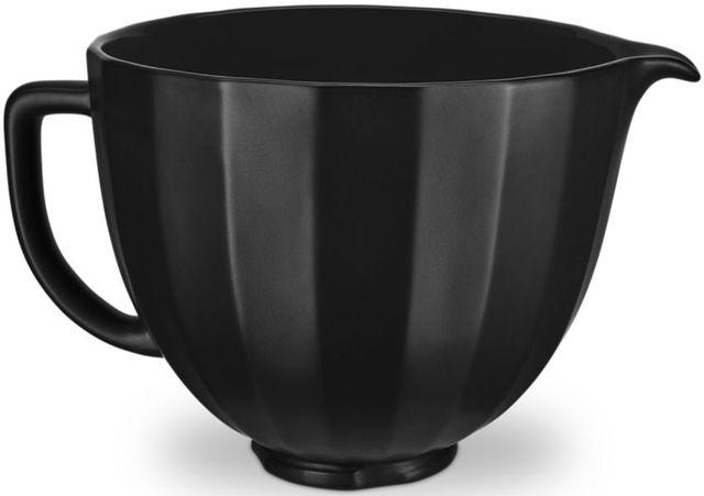 KitchenAid® Black Shell 5 Quart Ceramic Bowl-KSM2CB5PBS