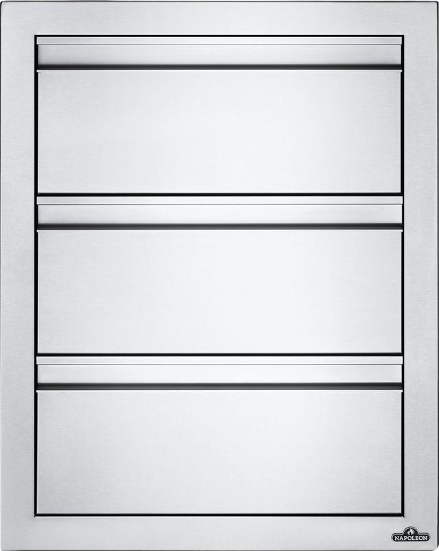 Napoleon Stainless Steel Triple Drawer-BI-1824-3DR