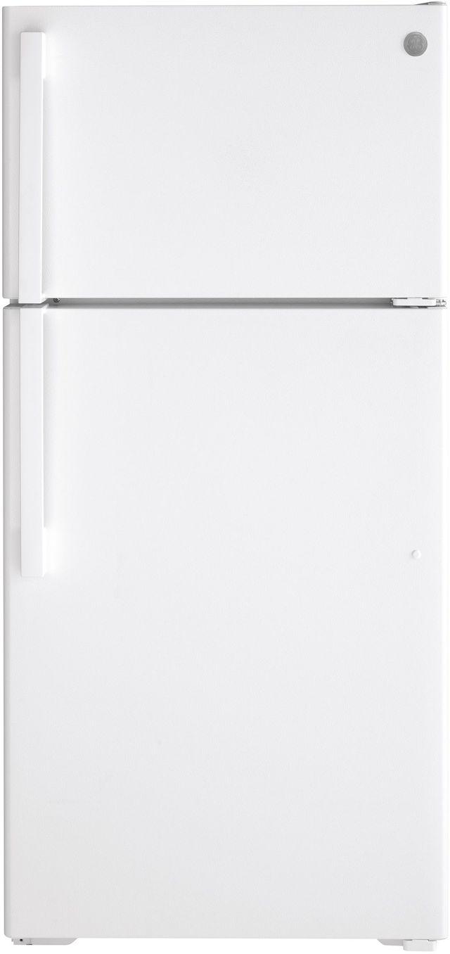 GE® 15.61 Cu. Ft. Top Freezer Refrigerator-GTE16DTN