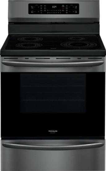 Cuisinière électrique autoportante à induction Frigidaire Gallery® de 5,4 pi³ de 30 po - Acier inoxydable noir résistant aux traces de doigts-GCRI305CAD