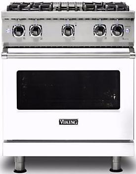 "Viking® Professional 5 Series 30"" Pro Style Gas Range-White-VGR5304BWHLP"