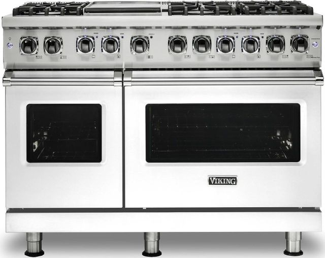 "Viking® Professional 5 Series 48"" Pro Style Dual Fuel Range-White-VDR5486GWHLP"