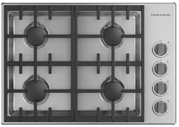 Table de cuisson au gaz Fisher Paykel® de 30 po - Acier inoxydable-CDV3-304L