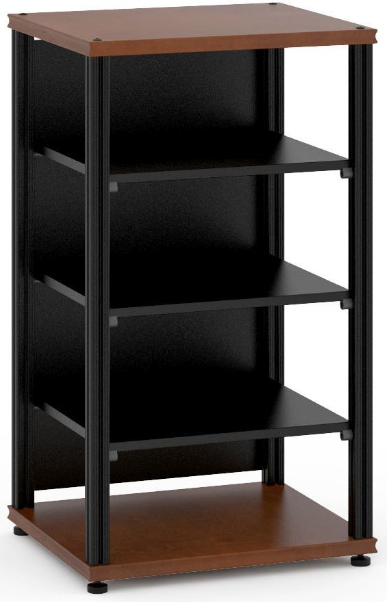 Salamander Designs® Synergy Single 40 AV Cabinet-Dark Cherry/Black-SU40C/B
