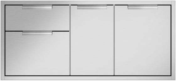 """DCS 47.94"""" Brushed Stainless Steel Bulit In Access Drawers-ADR2-48"""