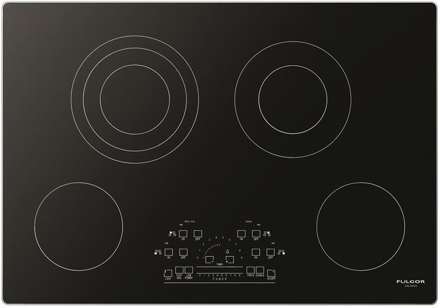 """Fulgor Milano® 600 Series 30"""" Electric Cooktop-Stainless Steel-F6RT30S2"""