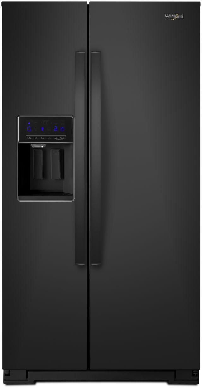 Whirlpool® 28.49 Cu. Ft. Side-by-Side Refrigerator-Black-WRS588FIHB