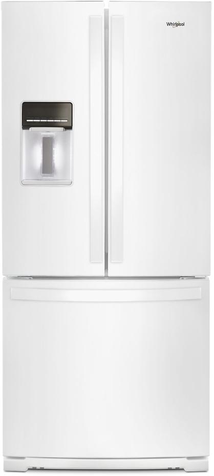 Whirlpool® 19.68 Cu. Ft. French Door Refrigerator-White-WRF560SEHW