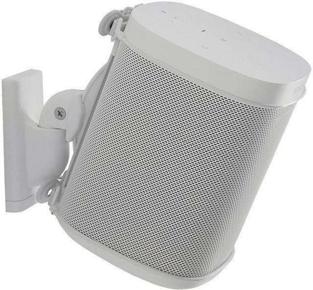 Sanus WSWM21-W1 Wireless Speaker Wall Mount for Sonos ONE, Play:1, Play:3 Single White-WSWM21-W1