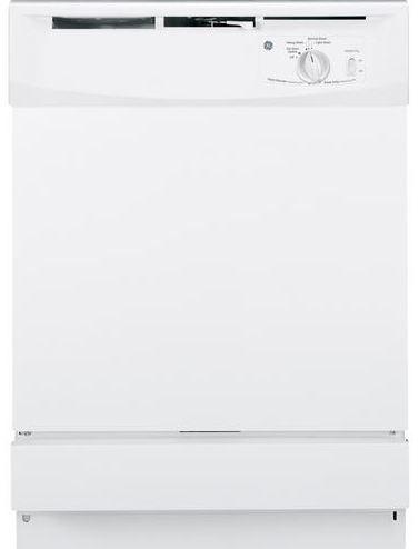 "GE® 24"" Built In Dishwasher-White-GSD2100VWW"