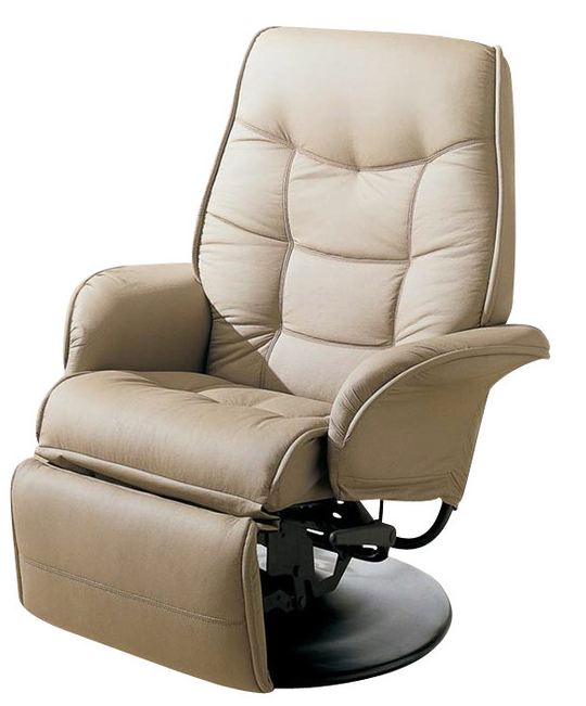 Coaster® Beige Swivel Recliner With Flared Arms-7502