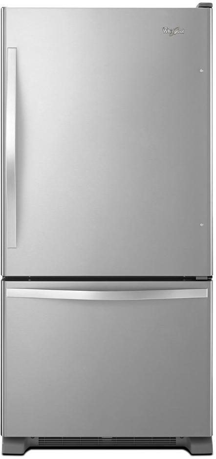 Whirlpool® 19.0 Cu. Ft. Bottom Freezer Refrigerator-Stainless Steel-WRB329DMBM
