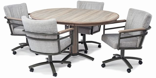 Chromcraft™ G&D Metalcraft™ Dining Table-ML424D+MB430-1GD-2G