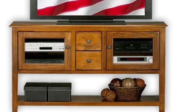 American Heartland Poplar TV Stand/Sofa Table-75309