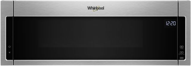 Whirlpool® Over The Range Microwave-Black On Stainless-WML55011HS