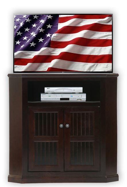 American Heartland Poplar Tall Corner TV Stand-75734