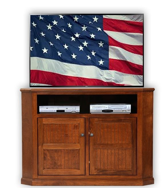 American Heartland Poplar Tall Corner TV Stand-75743