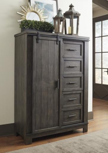 Liberty Furniture Thornwood Hills Rock Beaten Gray Sliding Door Chest-759-BR42