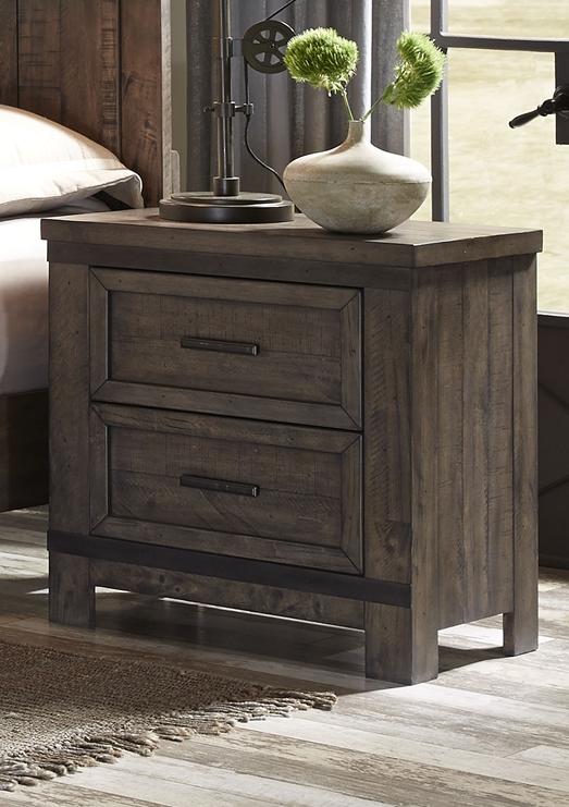 Liberty Furniture Thornwood Hills Rock Beaten Gray Nightstand-759-BR61