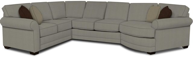 England Furniture Co. Brantley 4 Piece Culpepper Cement/Alvarado Mineral/Marshal Midnight Sectional-5630-28-22-43-95+8612+8791+8601