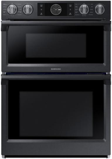 "Samsung 29.88"" Fingerprint Resistant Black Stainless Steel Microwave Combination Wall Oven-NQ70M7770DG"