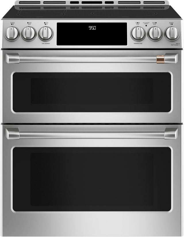 """Café™ 30"""" Stainless Steel Slide in Electric Range-CHS950P2MS1"""