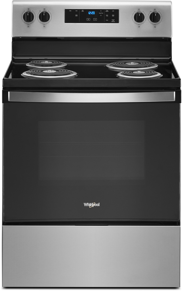 """Whirlpool® 30"""" Stainless Steel Free Standing Electric Range-WFC315S0JS-15-3088"""