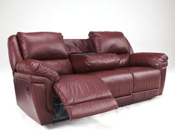 Signature Design by Ashley® Magician REC Sofa w/Drop Down Table-7610089