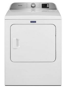 Maytag® 7.0 Cu. Ft. White Front Load Electric Dryer-MED6200KW