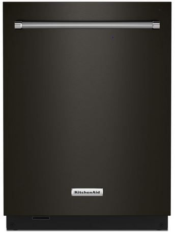 "KitchenAid® 24"" PrintShield™ Black Stainless Steel Built In Dishwasher-KDTM804KBS"