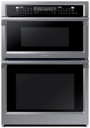 """Samsung 29.88"""" Stainless Steel Microwave Combination Wall Oven-NQ70M6650DS"""