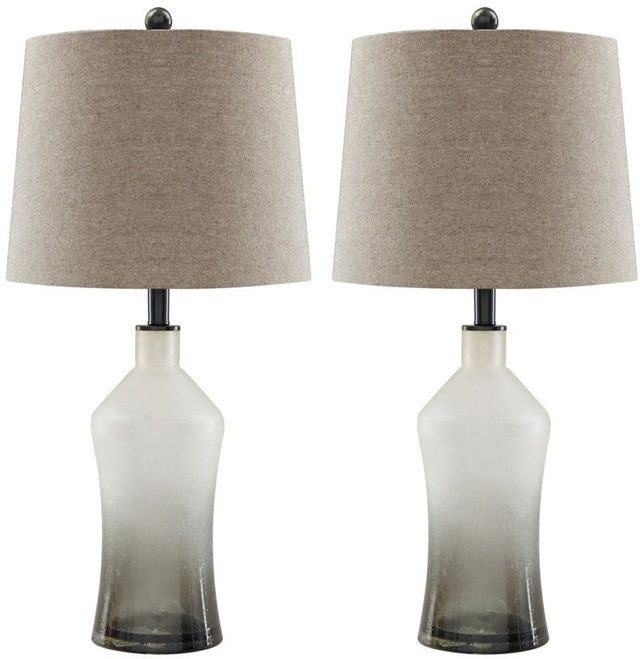 Signature Design by Ashley® Nollie Set of 2 Gray Table Lamps-L430534