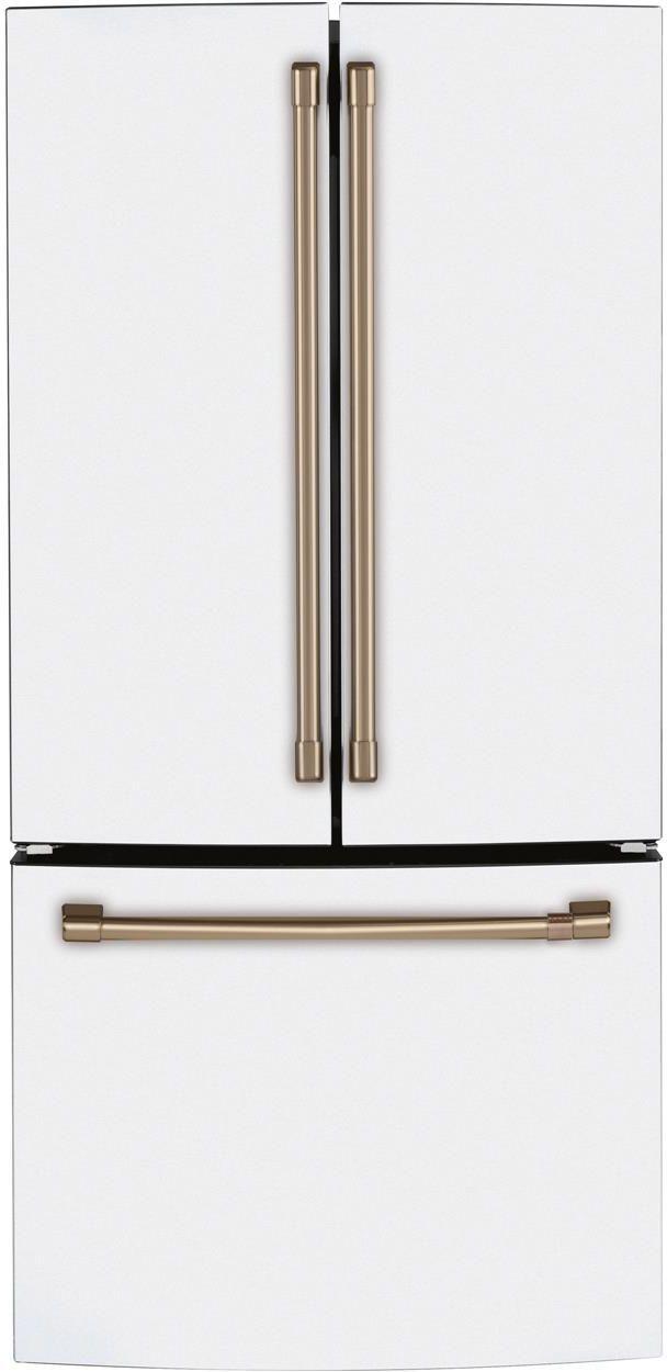 Réfrigérateur à portes françaises à profondeur de comptoir de 33 po Cafe™ de 18,6 pi³ - Blanc mat-CWE19SP4NW2