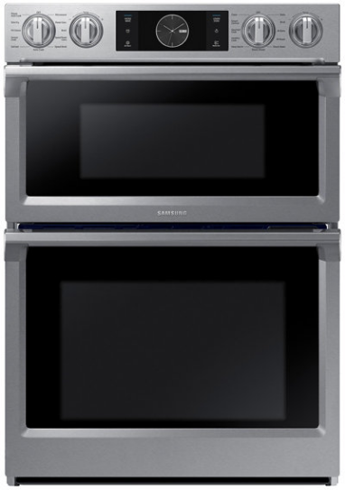 """Samsung 29.88"""" Stainless Steel Microwave Combination Wall Oven-NQ70M7770DS"""