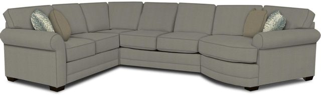 England Furniture Co. Brantley 4 Piece Culpepper Cement/Alvaro Mineral/Peyton Fawn Sectional-5630-28-22-43-95+8612+8656+8601